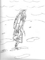 carry her line drawing by KLSenko