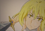 Aiz Wallenstein - Speed Drawing by Anime-With-Jackson
