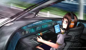 High Speed Train by Anomonny