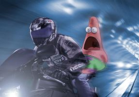 Patrick realizes he doesn't have a seatbelt by Messinground