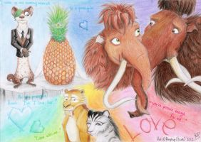 Love in Ice Age (second version) by Amyloup