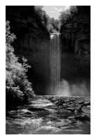 2014-243 Taughannock Falls on a very bright day by pearwood