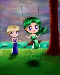 Sailor Moon - Princess Uranus Neptune Chibi by TheKissingHand