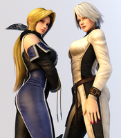Christie and Helena 3DS Render by x2gon