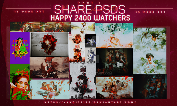 [ SHARE PSDS ] HAPPY 1400 WATCHERS by KhoiTT123