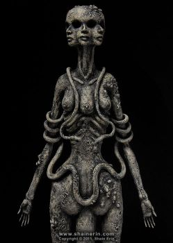 Hecate Sculpture detail by shainerin