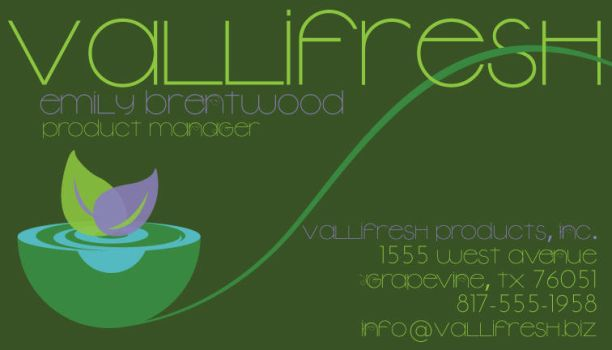 VallieFresh Business card by EzeKeiL