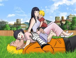 NaruHina - Family by odinforce23