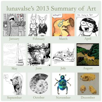2013 Summary of Art by lunavalse