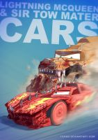 Lightning Mcqueen BADASS by Tohad