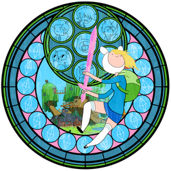 :Stained Glass: Fionna the Human by PowBunny