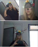 Faun makeup + horns by albimola