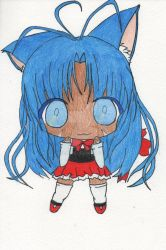 Chibi Cute Collection Character: Neko Bluey by Ijiserure