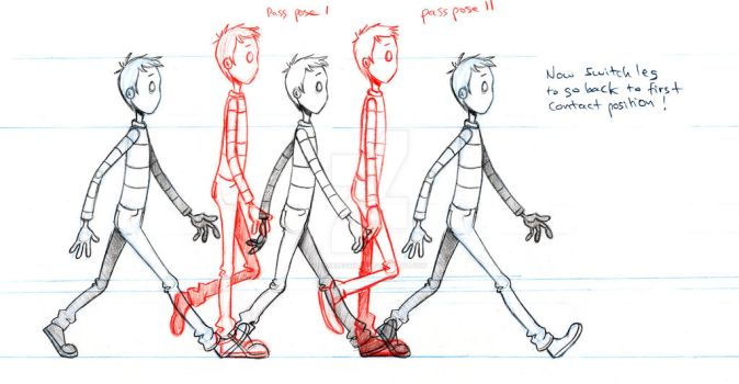 Neil Walk cycle by facelessneil