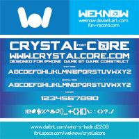 crystalcorefont by weknow