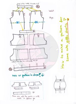 how to make puffy shorts - pattern tutorial by PizZaMonsTa