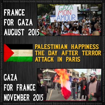 Gaza happiness For France by israVectors