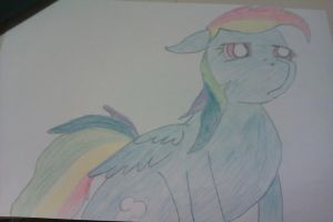 Rainbow not sure by Ze-King-of-Equestria