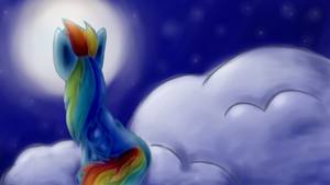Looking at the Moon by SplendNightray