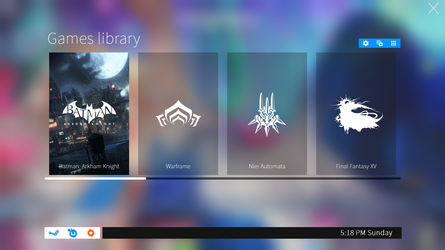 GameHUB launcher 1.5 for Rainmeter by not-Finch