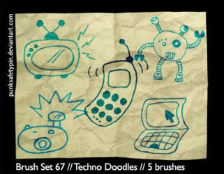 Brush Set 67 - Techno Doodles by punksafetypin