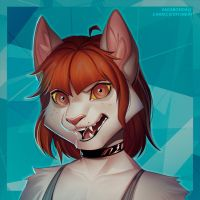 Headshot Commission for kittikos by vagab0nda