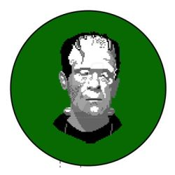 Frankenstein Pixel Art Portrait by DanRussell93