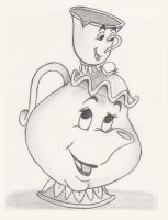 Mrs. Potts and Chip by EnrichingMySoul