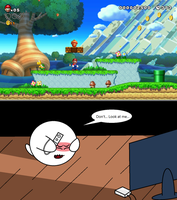 Boo plays ''New Super Mario Bros. U'' by sonickirbyfanno7np10