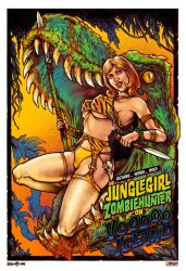 Jungle Girl Zombie hunter on Voodoo Island by WacomZombie