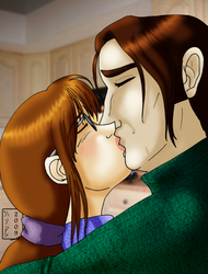 The Kiss - Color - by Yunie-B