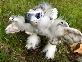 Snowy Owl Raptor Art Doll by felineflames