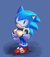 speedpaint: classic sonic by chickenoverlord