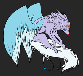 -CLOSED- Winged Wolf Adoptable by ParagonPalace
