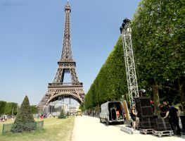Sound system within Champ de Mars by EUtouring