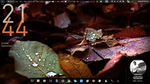 Conky framed in Gnome Panel by artbhatta
