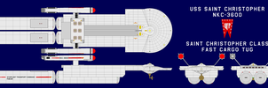 USS Saint Christopher NKC-3600 with 4 Pods by GAT-X139