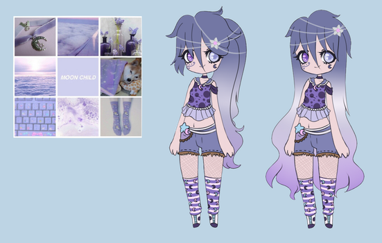 Aesthetic adopts - Moon child by WasatGemini