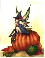 Halloween fairy -color- by jurithedreamer