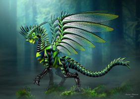 Dragonfly Dragon by jeroenpaint