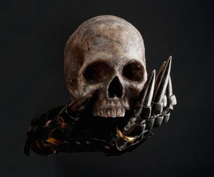 Glove of Sauron and skull 1a by jagged-eye