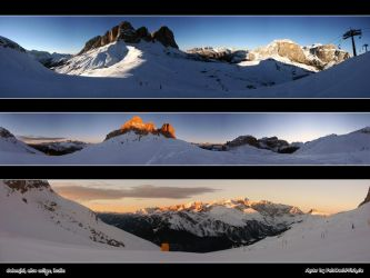 panoramic dolomiti by woylie