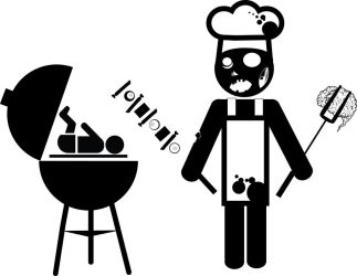 Zombie cook the baby version by LuisxOlavarria
