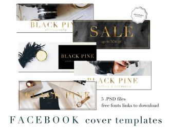 Facebook Cover Templates .PSD by iCatchUrDream