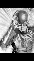 The Flash with background by corysmithart