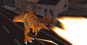 MMD Newcomer RedGreymon + DL by Valforwing