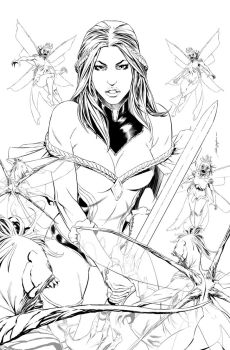 Grimm Fairy Tales #5 cover by fragcomics