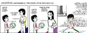 Mushiisms014 Archangelo, the poor little rich boy2 by mushisan