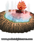 Fire Giantess Hecation Relaxes in a Hot Spring