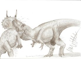 Dino Duels: Tyrannosaurus vs Triceratops by Teratophoneus